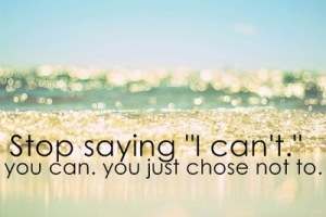 stop saying cant